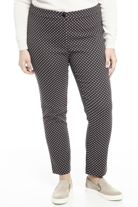 Pantalone in tessuto a motivo Diffusione Tessile