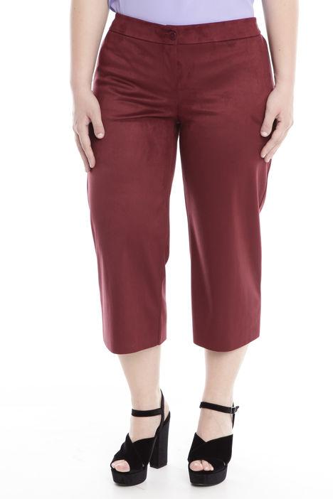 Pantaloni cropped effetto scamosciato Diffusione Tessile