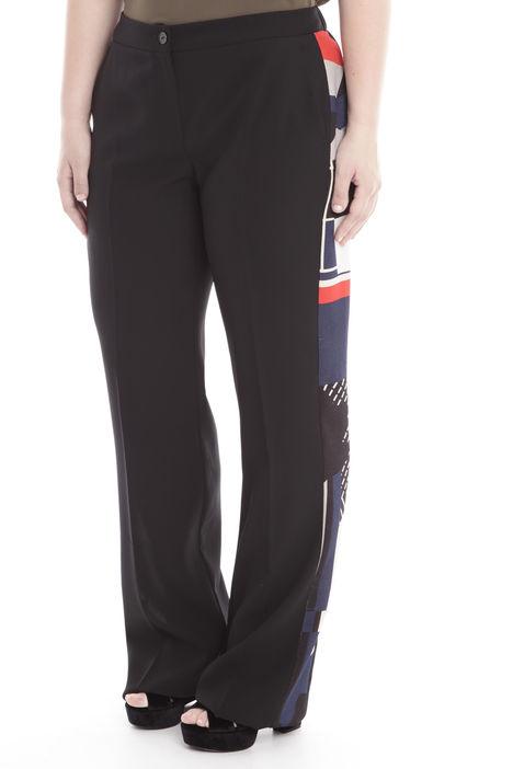 Pantaloni con inserto fantasia Diffusione Tessile