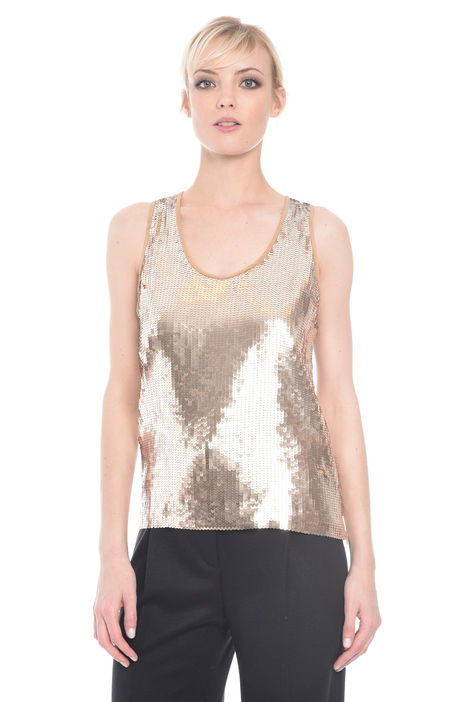 Top in crepe con paillettes Intrend