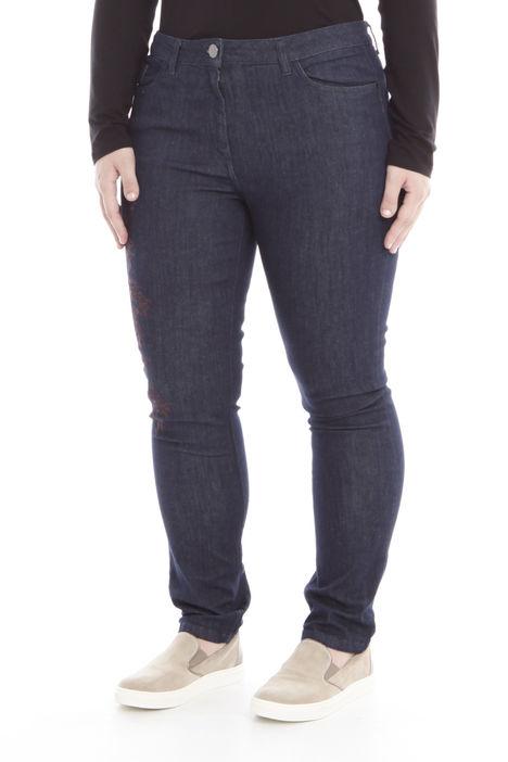 Jeans con ricamo Diffusione Tessile