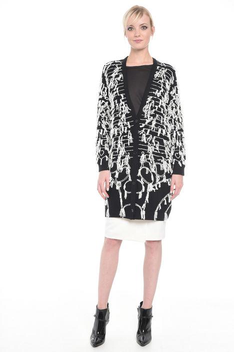 Cardigan in lana con ricami Diffusione Tessile