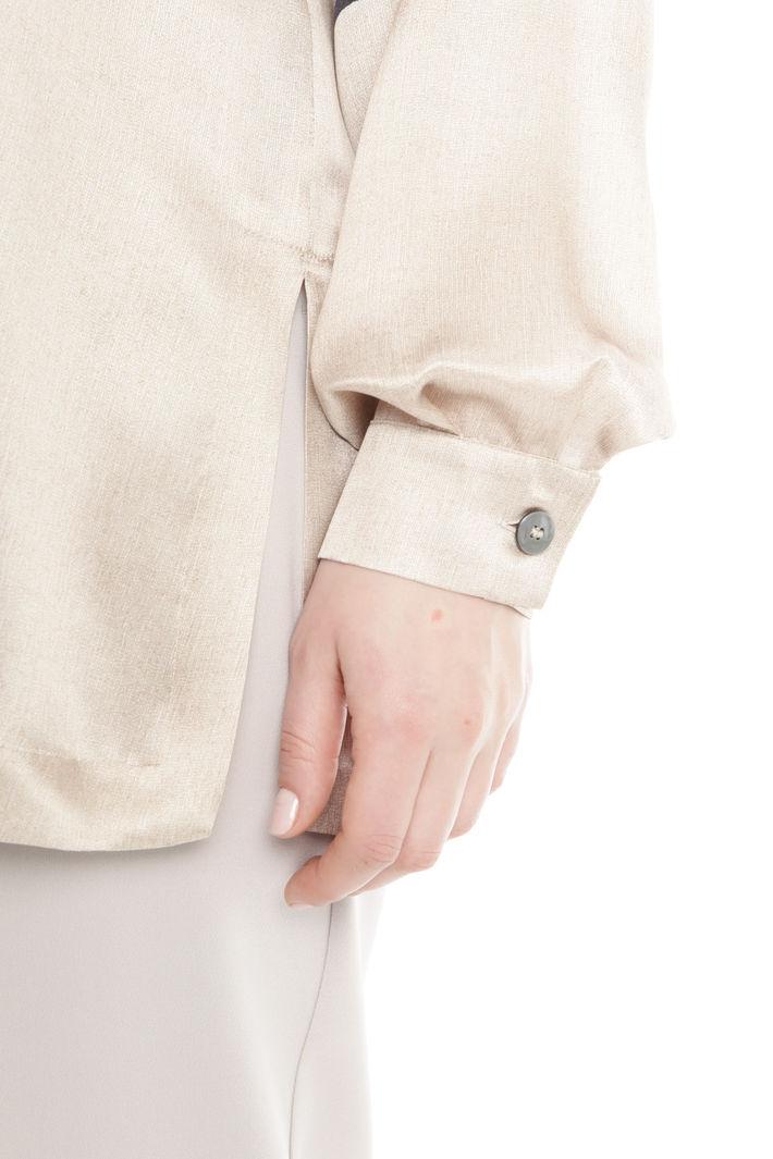 Blusa in raso di seta stampato Diffusione Tessile