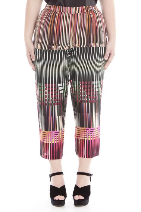 Pantalone cropped fantasia Diffusione Tessile