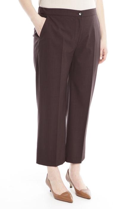 Pantalone  cropped  in lana leggera Diffusione Tessile