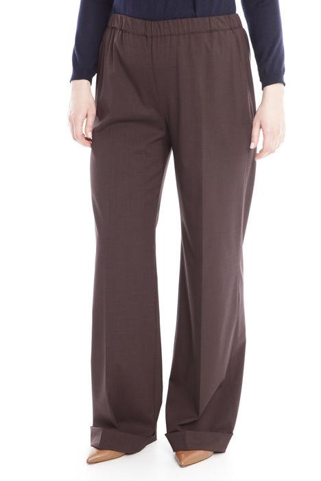 Pantalone palazzo con risvolti Diffusione Tessile
