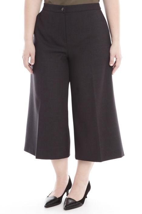Pantalone cropped in doppio di lana Diffusione Tessile