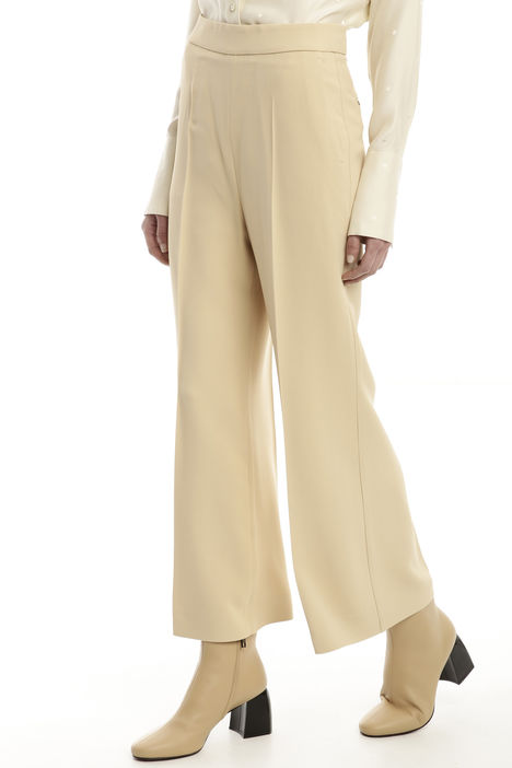 Pantalone cropped in viscosa Diffusione Tessile