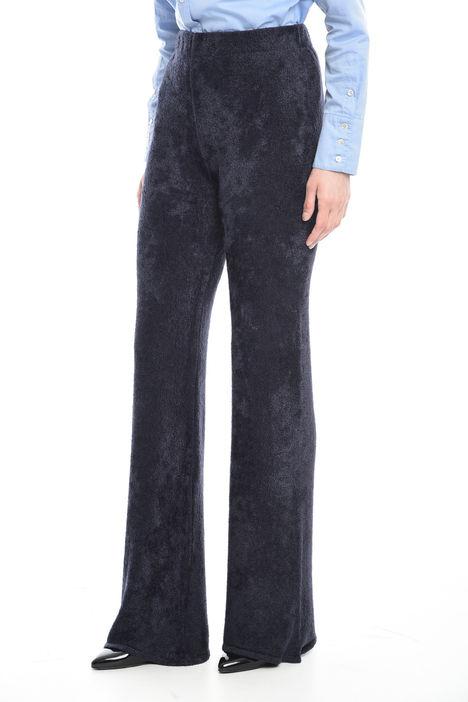 Pantaloni a zampa in ciniglia Diffusione Tessile