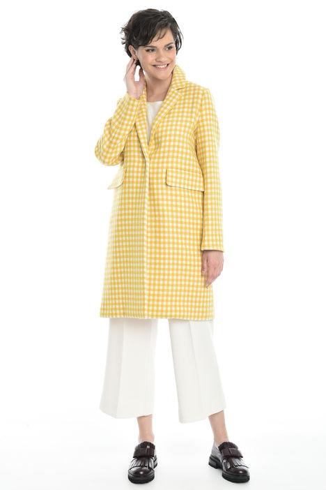 Cappotto in lana a fantasia Intrend