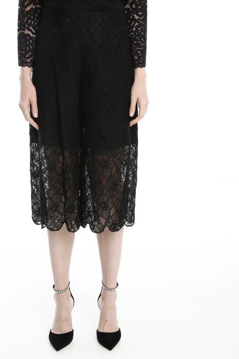 Pantaloni cropped in pizzo Intrend