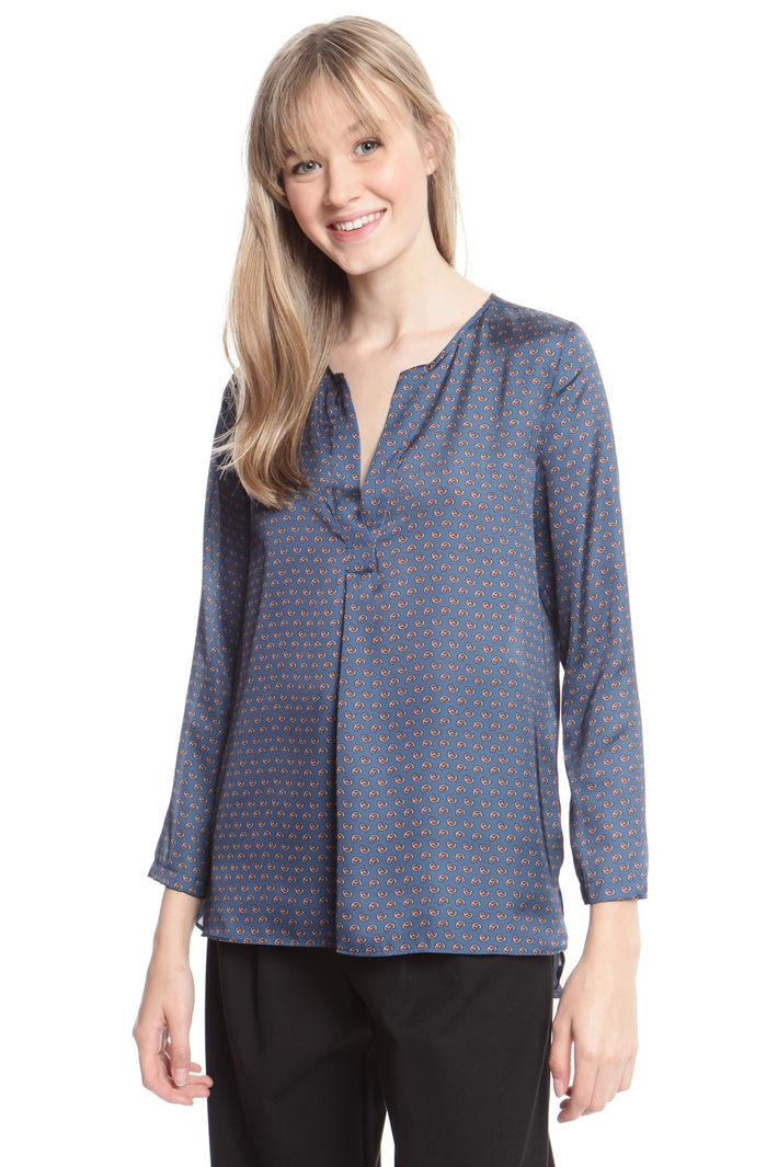 Blusa in crepe stampata Diffusione Tessile
