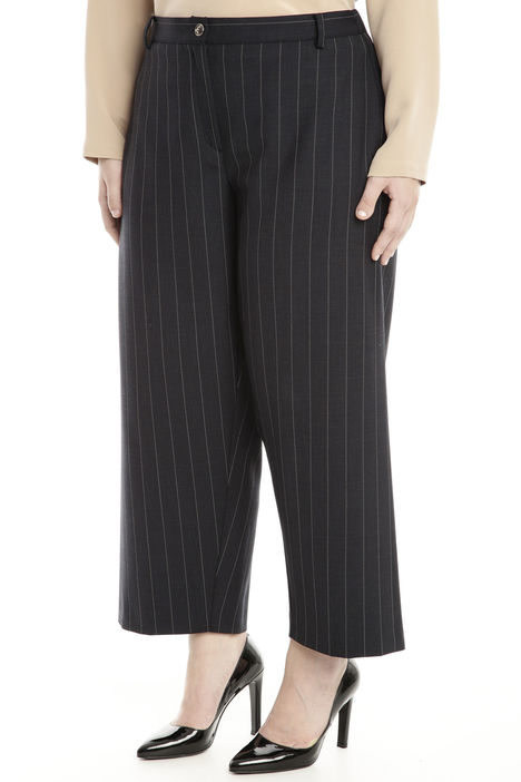 Pantalone  cropped in flanella stretch Intrend