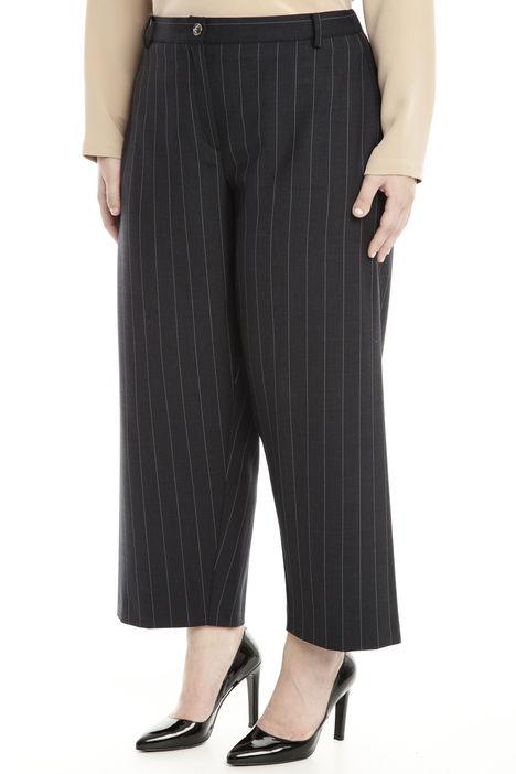 Pantalone  cropped in flanella stretch Diffusione Tessile
