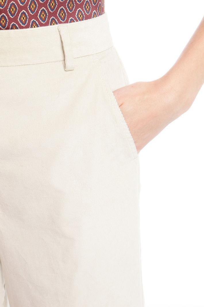 Pantalone dritto in velluto Diffusione Tessile
