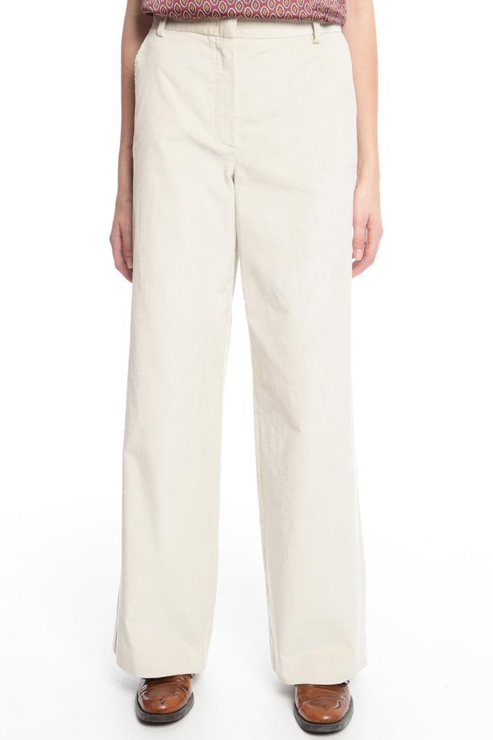 Pantalone dritto in velluto Fashion Market