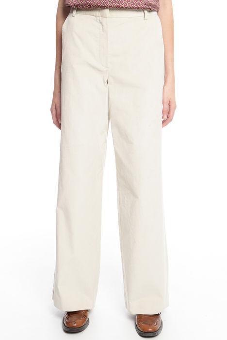 Pantalone dritto in velluto Intrend