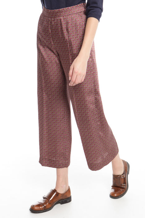 Pantalone cropped in twill stampato Intrend