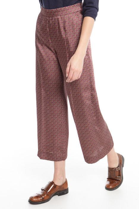 Pantalone cropped in twill stampato Diffusione Tessile