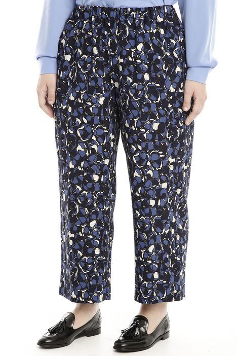 Pantaloni con stampa fantasia Diffusione Tessile