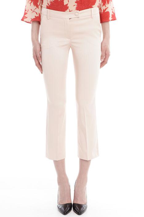 Pantaloni cropped in faille Diffusione Tessile