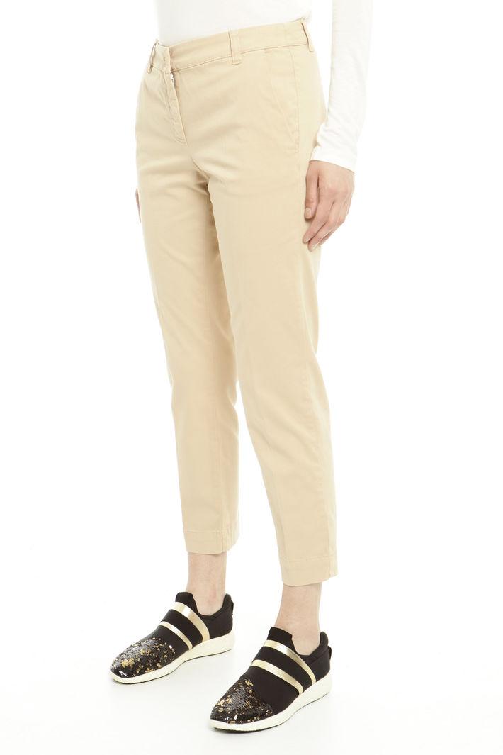 Pantaloni cropped in cotone Diffusione Tessile