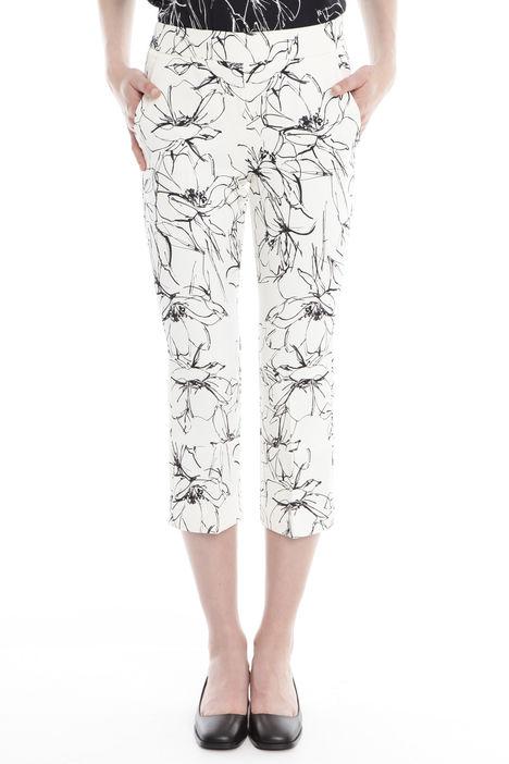 Pantaloni cropped a fiori Diffusione Tessile