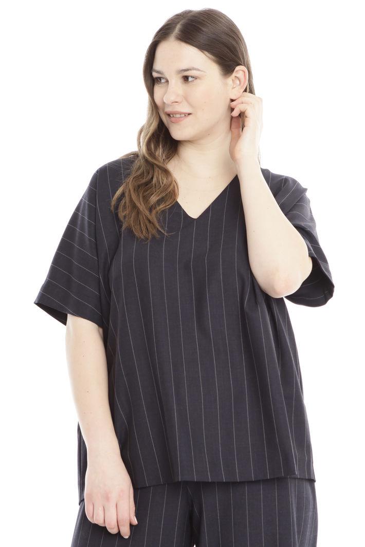 Blusa in flanella tinto filo Diffusione Tessile