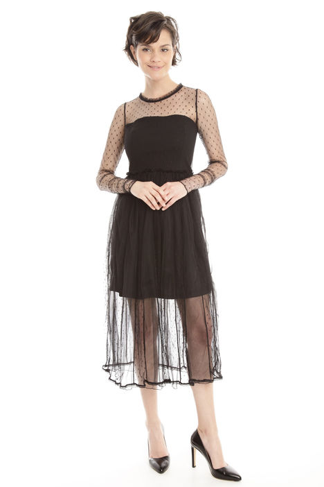 Abito in tulle a micro pois Intrend