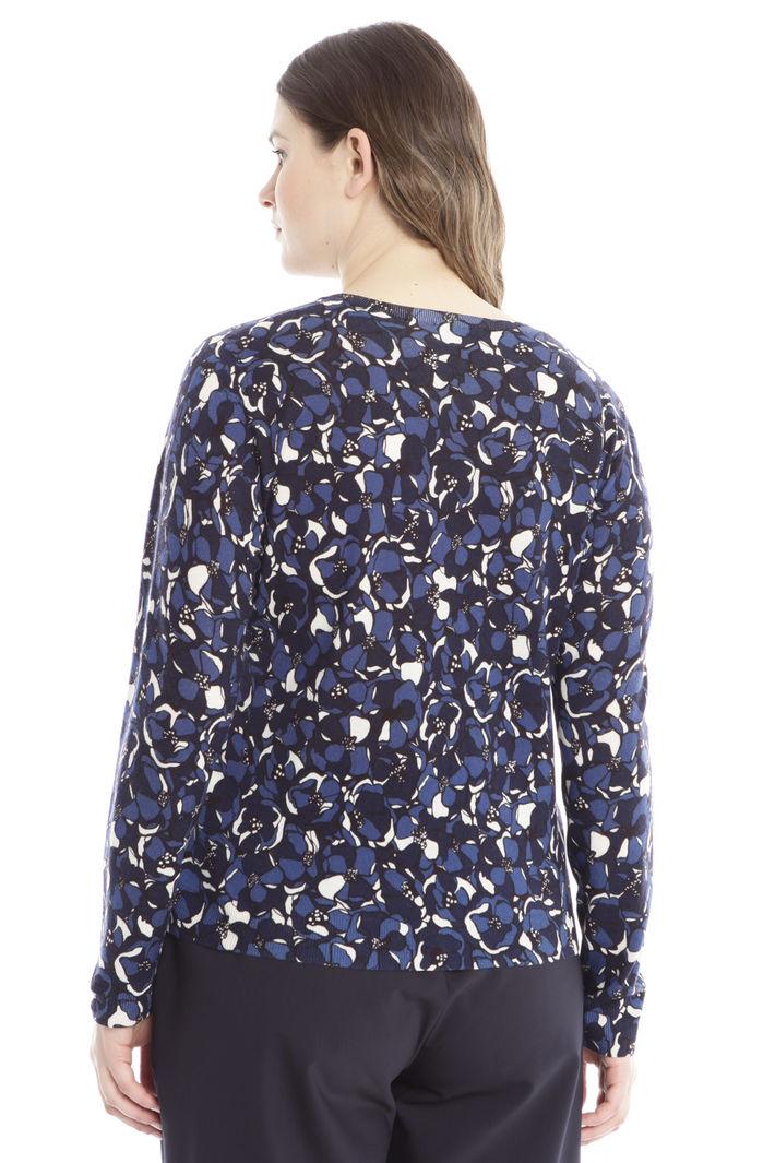 Cardigan in lana stampata Diffusione Tessile