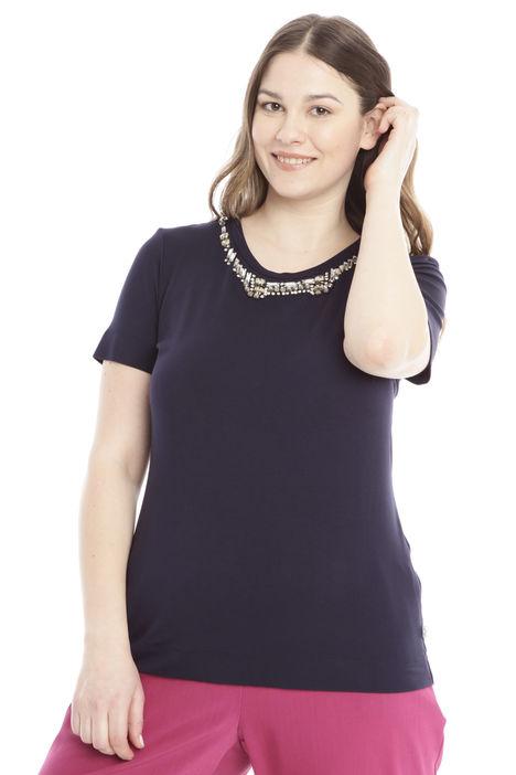 T-shirt con collo gioiello Diffusione Tessile