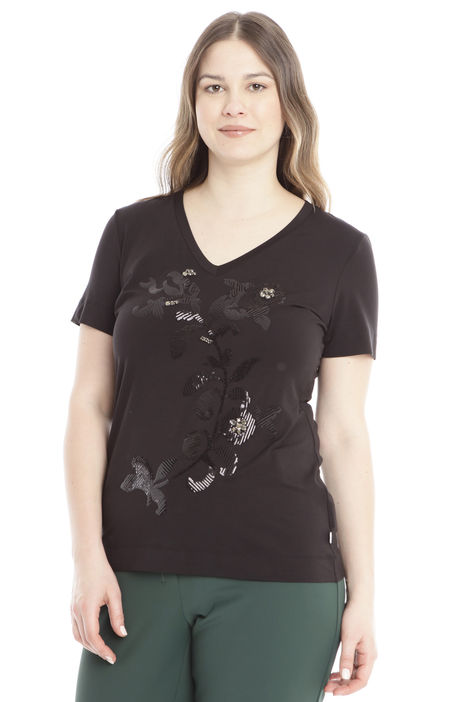 T-shirt con paillettes Intrend