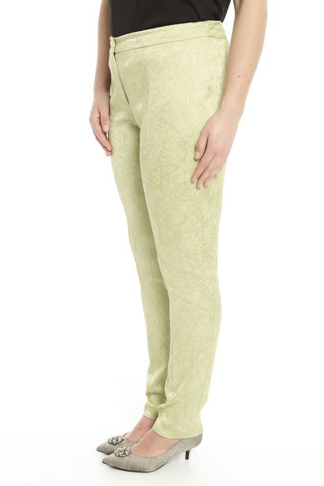 Pantaloni in viscosa jacquard Diffusione Tessile