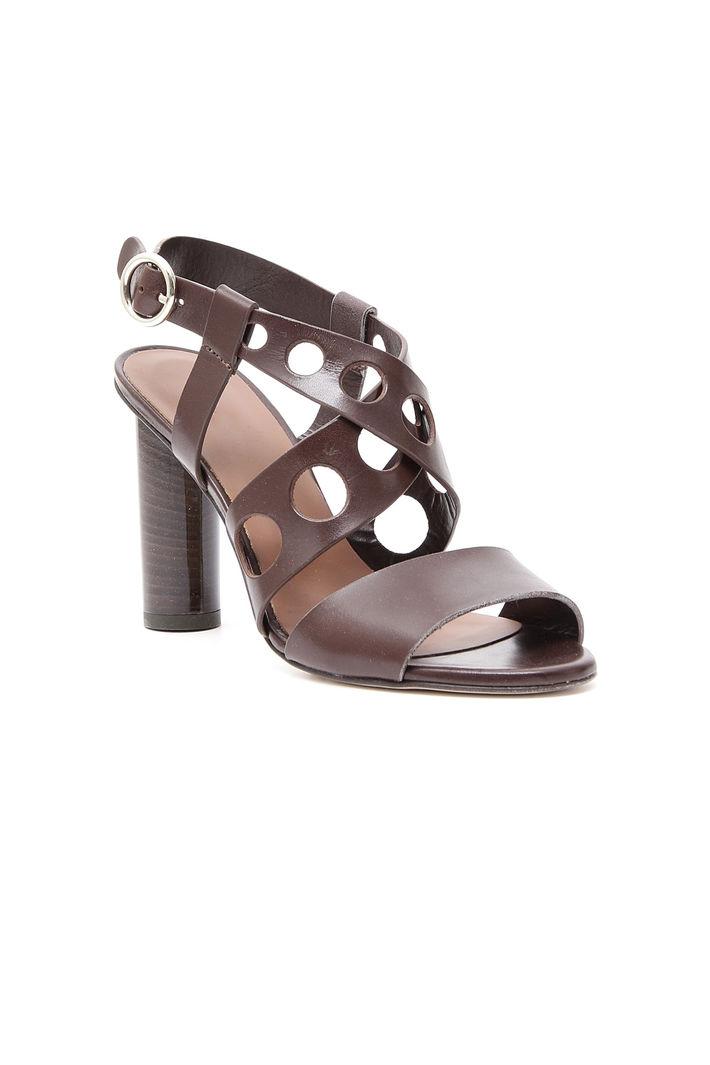 Sandalo in pelle traforato Diffusione Tessile