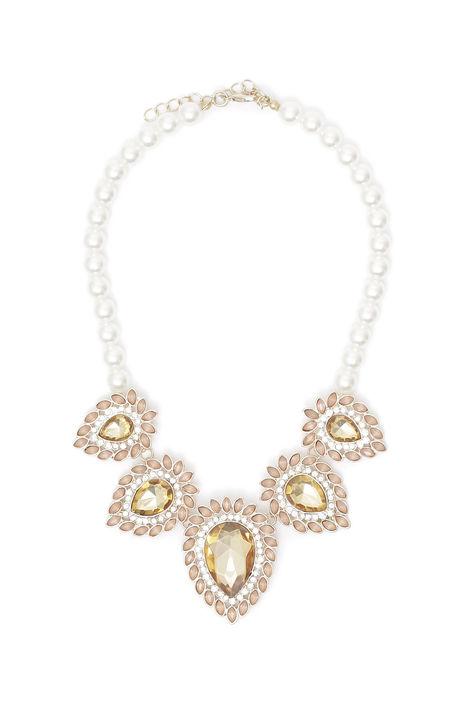 Girocollo di perle con pietre Intrend