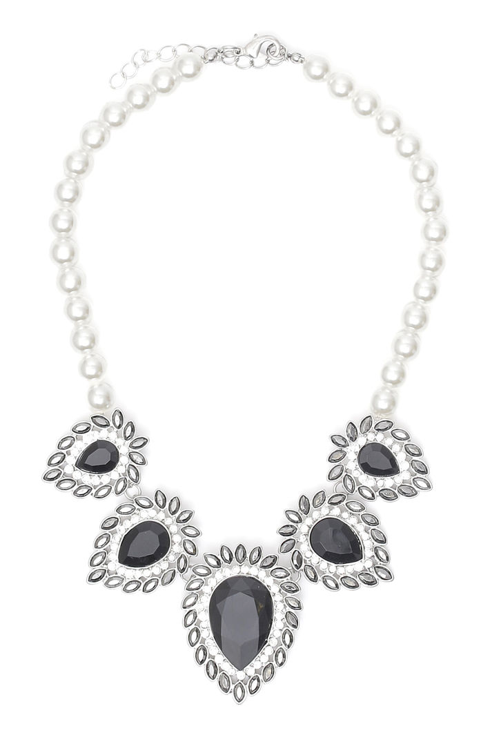 Girocollo di perle con pietre Fashion Market