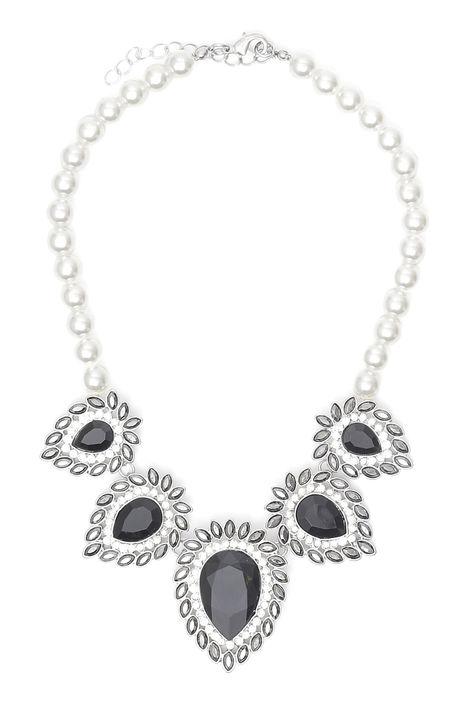 Girocollo di perle con pietre Diffusione Tessile