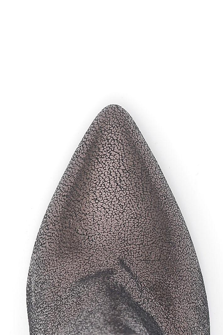 Tronchetto in pelle con tacco Fashion Market