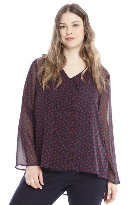 Blusa in georgette con balza Diffusione Tessile