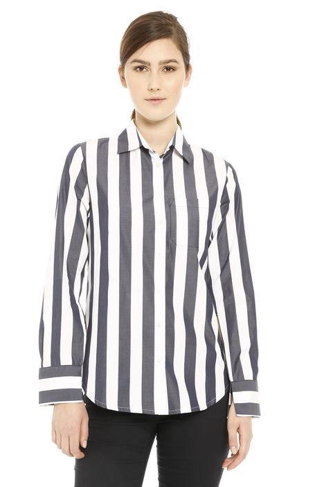 Camicia a righe in cotone Diffusione Tessile