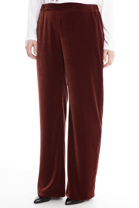 Pantalone palazzo in ciniglia Diffusione Tessile