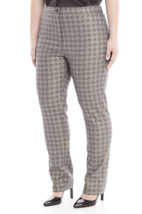 Pantaloni in lurex jacquard Diffusione Tessile