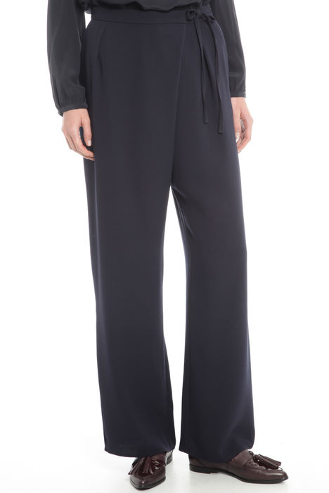 Pantaloni ampi in triacetato Diffusione Tessile