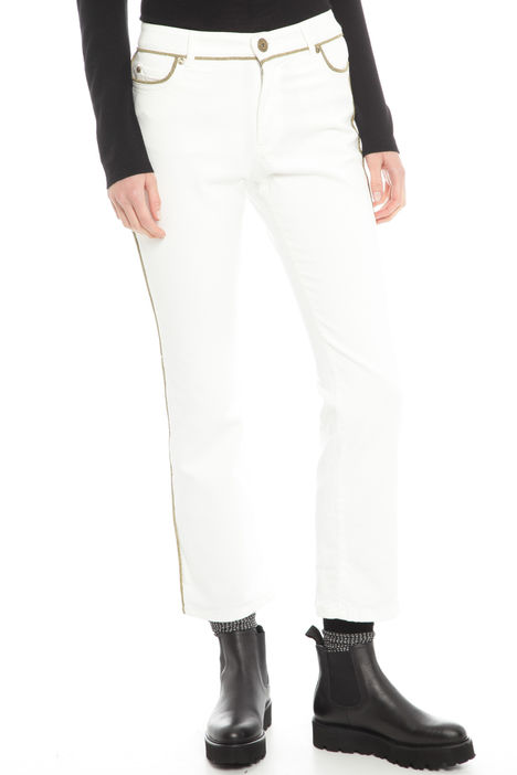 Pantaloni con profili gold Diffusione Tessile