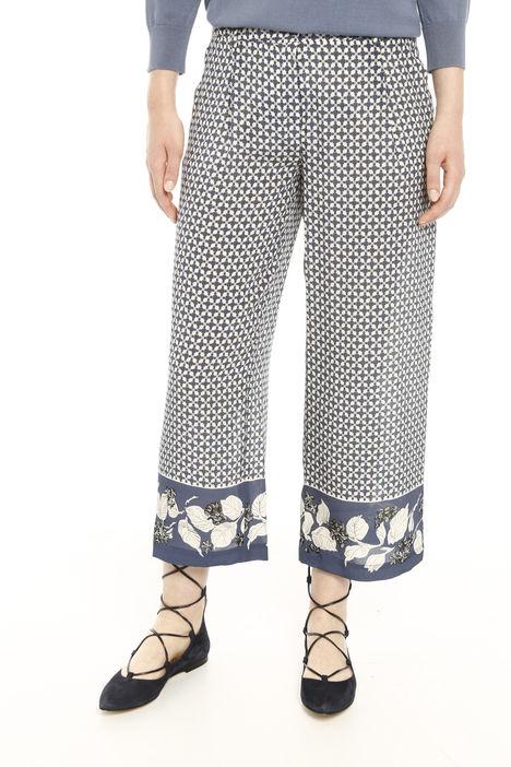 Pantaloni cropped  con banda sul fondo Diffusione Tessile