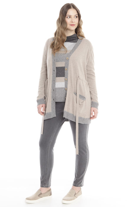 Cardigan lungo con coulisse Diffusione Tessile