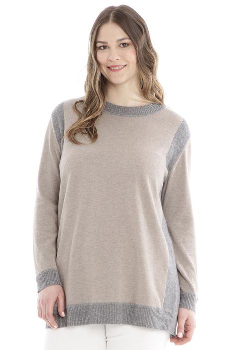 Maglia bicolore in lana Diffusione Tessile