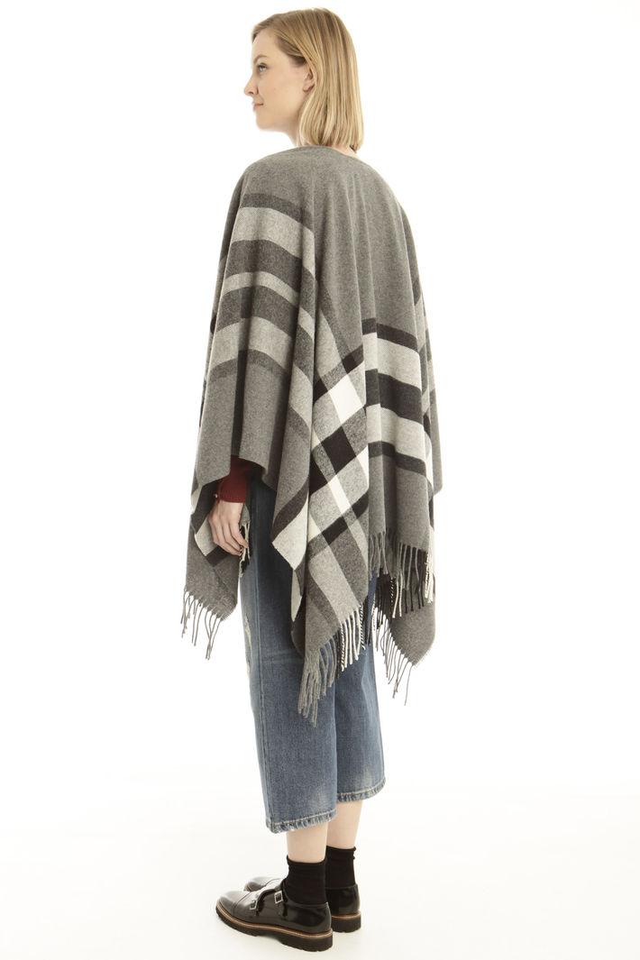 Poncho in misto lana Fashion Market