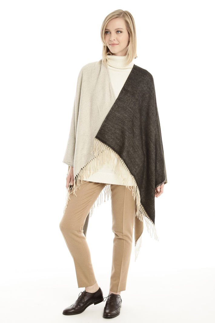 Poncho bicolore Fashion Market
