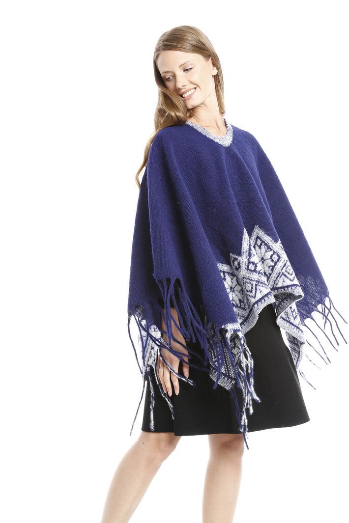 Poncho con fondo fantasia Fashion Market